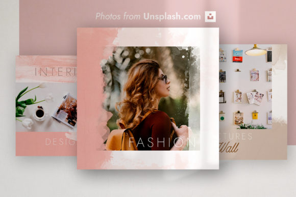 Instagram Posts - Fashion Templates Graphic Instapage By Roman Paslavskiy