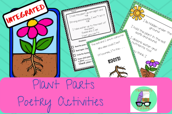 Integrated Plant Parts Poetry Activities Graphic Teaching Materials By Teacher's Tribe