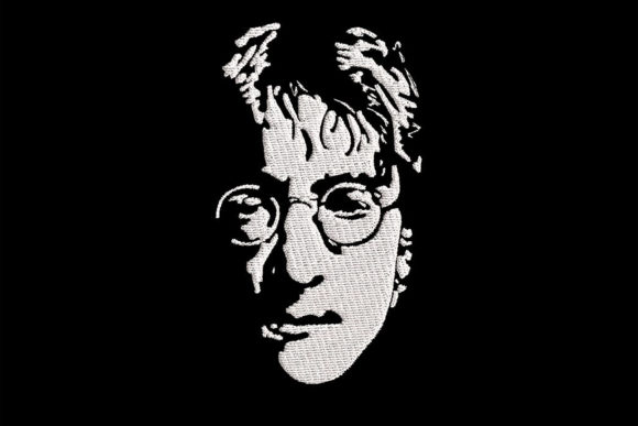 Print on Demand: John Lennon 1 Color Simplistic Portrait Music Embroidery Design By Embroidery Shelter - Image 1