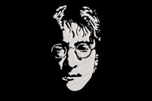 Print on Demand: John Lennon 1 Color Simplistic Portrait Music Embroidery Design By Embroidery Shelter