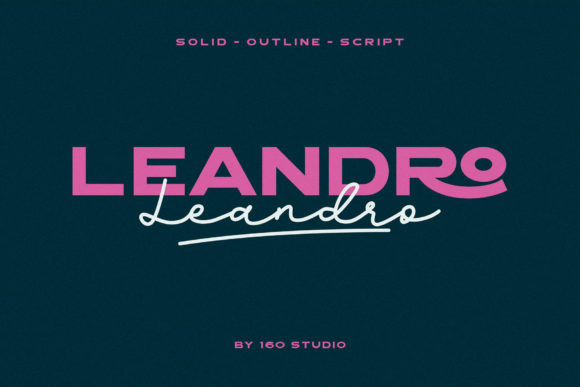 Print on Demand: Leandro Sans Serif Font By 160 Studio