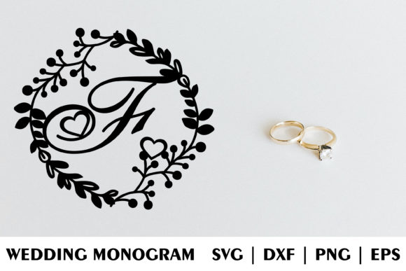 Download Free Letter F Of Wedding Decorative Monogram Graphic By Julimur2020 for Cricut Explore, Silhouette and other cutting machines.