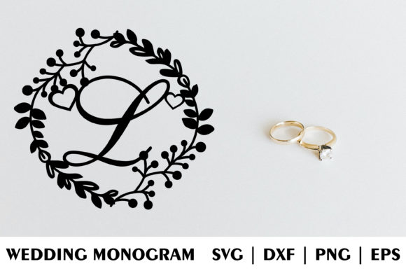 Download Free Letter L Of Wedding Decorative Monogram Graphic By Julimur2020 for Cricut Explore, Silhouette and other cutting machines.