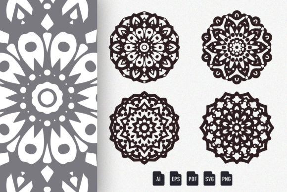 Download Free Colored Mandala Art 01 Graphic By Dwikrisdiantoro9 Creative for Cricut Explore, Silhouette and other cutting machines.