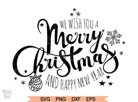 Download Free Merry Christmas Svg Graphic By Roxysvg26 Creative Fabrica for Cricut Explore, Silhouette and other cutting machines.