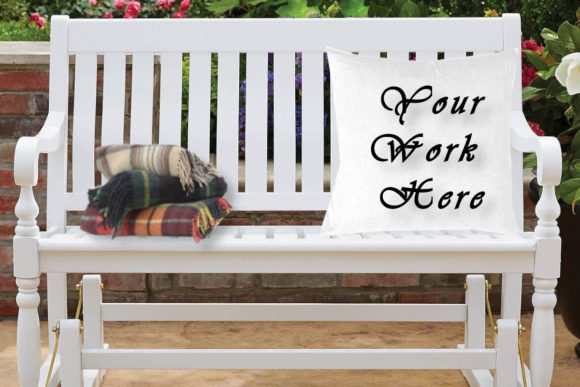 Mockup White Pillow, Bench Graphic Product Mockups By MockupsByGaby