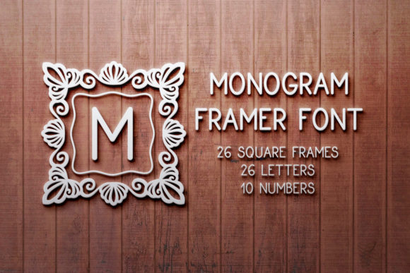 Print on Demand: Monogram Framer Decorative Font By Eva Barabasne Olasz