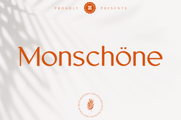 Print on Demand: Monschone Sans Serif Font By zealab fonts division