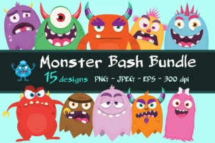 Print on Demand: Monster Clip Art Bundle Graphic Illustrations By CaptainCreative
