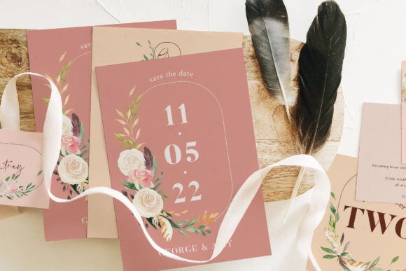 Download Free Dusty Green Foliage Wedding Suite Graphic By Blue Robin Design for Cricut Explore, Silhouette and other cutting machines.