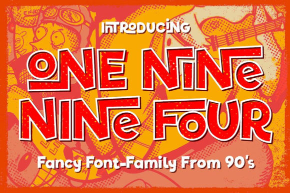 Print on Demand: One Nine Nine Four Display Schriftarten von vintagevoyageco