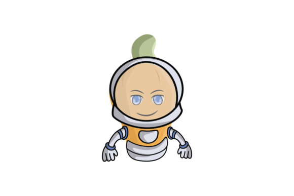 Download Free Orange Astronaut Fruit Cartoon Character Graphic By for Cricut Explore, Silhouette and other cutting machines.