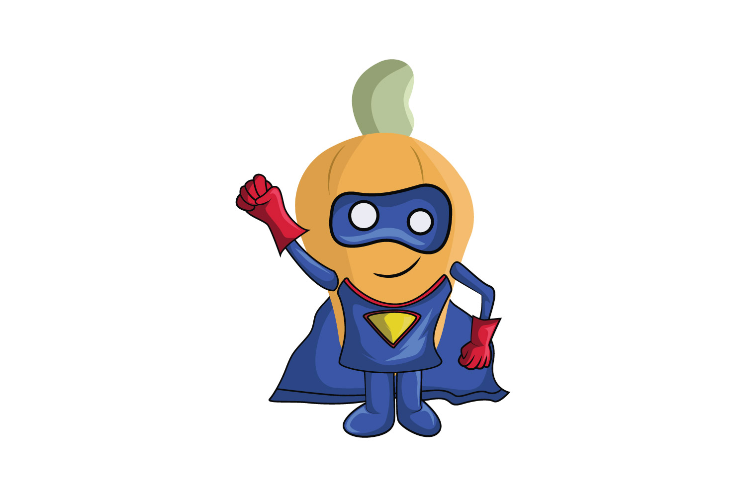 Download Free Orange Superhero Fruit Cartoon Character Graphic By for Cricut Explore, Silhouette and other cutting machines.