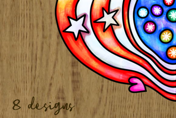 Print on Demand: Patriotic American July Fourth Borders Graphic Backgrounds By Prawny - Image 5