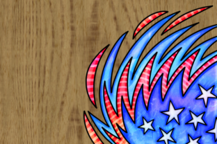 Print on Demand: Patriotic American July Fourth Borders Graphic Backgrounds By Prawny 6