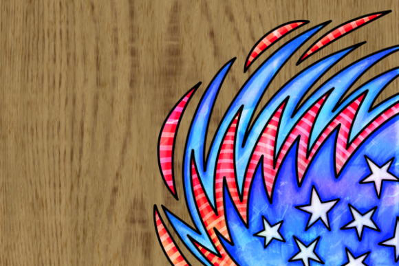 Print on Demand: Patriotic American July Fourth Borders Graphic Backgrounds By Prawny - Image 6