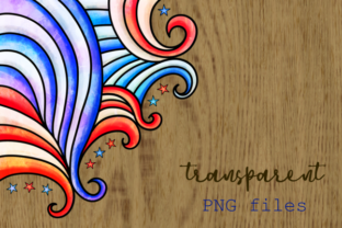 Print on Demand: Patriotic American July Fourth Borders Graphic Backgrounds By Prawny 7
