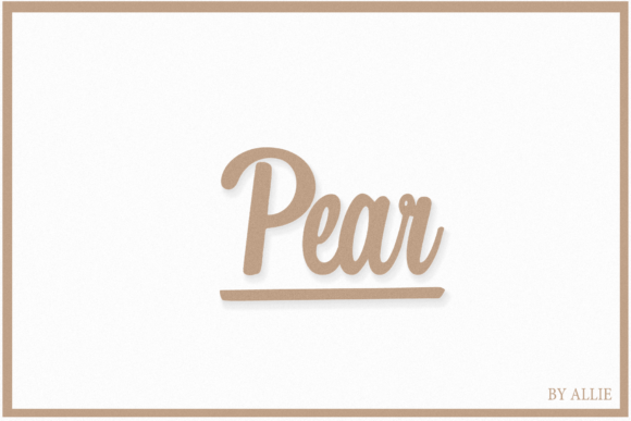 Print on Demand: Pear Script & Handwritten Font By maplesyruptype