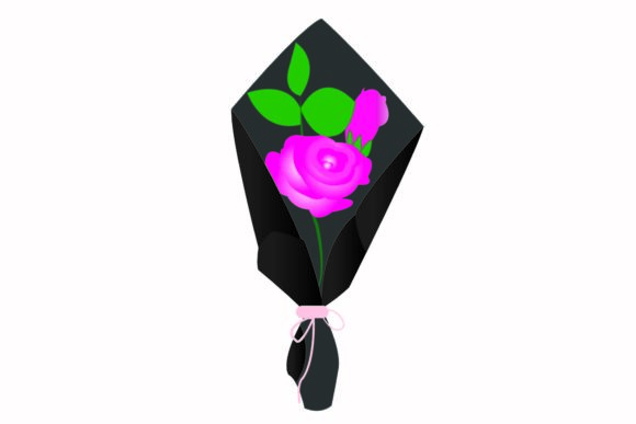 Download Free Pink Rose Bouquets Graphic By Garnetastudio Creative Fabrica for Cricut Explore, Silhouette and other cutting machines.