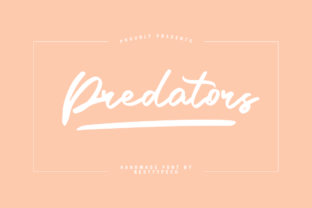 Print on Demand: Predators Script & Handwritten Font By besttypeco