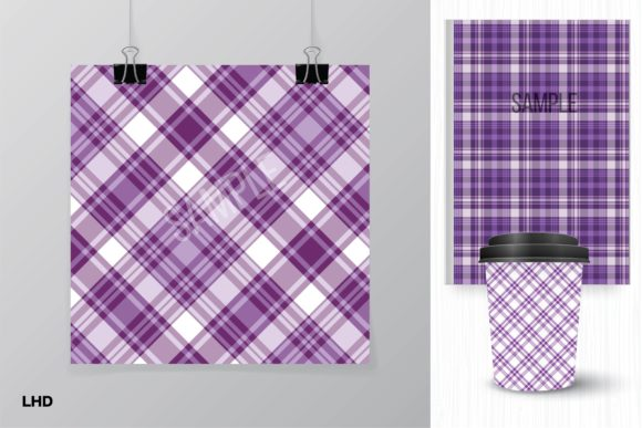 Download Free Purple Plaids Digital Paper Graphic By Leskahamatydesign for Cricut Explore, Silhouette and other cutting machines.