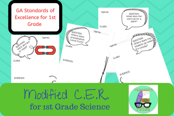 QCE - Modified CER Pack for First Grade Graphic 1st grade By Teacher's Tribe