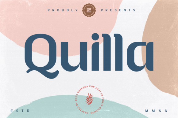 Print on Demand: Quilla Sans Serif Font By zealab fonts division