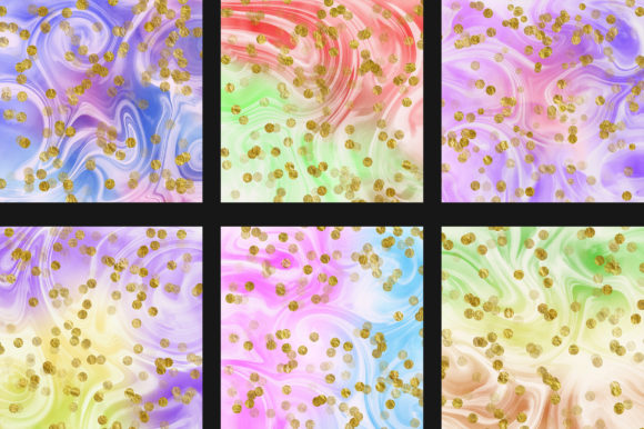 Rainbow Marble Gold Bokeh Background Graphic Backgrounds By PinkPearly - Image 4