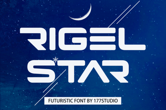 Print on Demand: Rigel Star Display Font By 177Studio