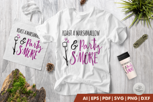 Print on Demand: Roast a Marshmallow & Party Smore Graphic Crafts By LovePowerDesigns
