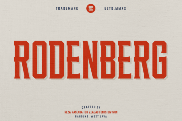 Print on Demand: Rodenberg Serif Font By zealab fonts division - Image 1