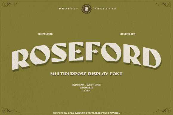Print on Demand: Roseford Display Font By zealab fonts division