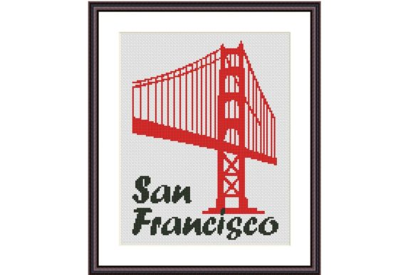 San Francisco City Cross Stitch Pattern Graphic Cross Stitch Patterns By e6702