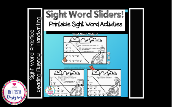 Sight Word Sliders Fluency Printables Graphic 1st grade By My Lesson Designer