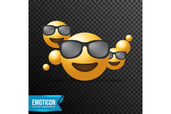 Print on Demand: Smiling Face with Sunglasses Emoji Graphic Icons By ojosujono96