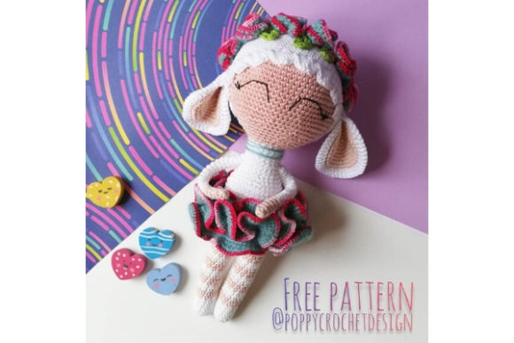 Sophie the Sheep Crochet Pattern Gráfico Patrones de crochet Por Needle Craft Patterns Freebies