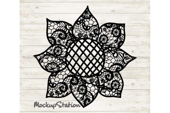 Print on Demand: Sunflower Mandala Farm Decor   Graphic Crafts By Mockup Station