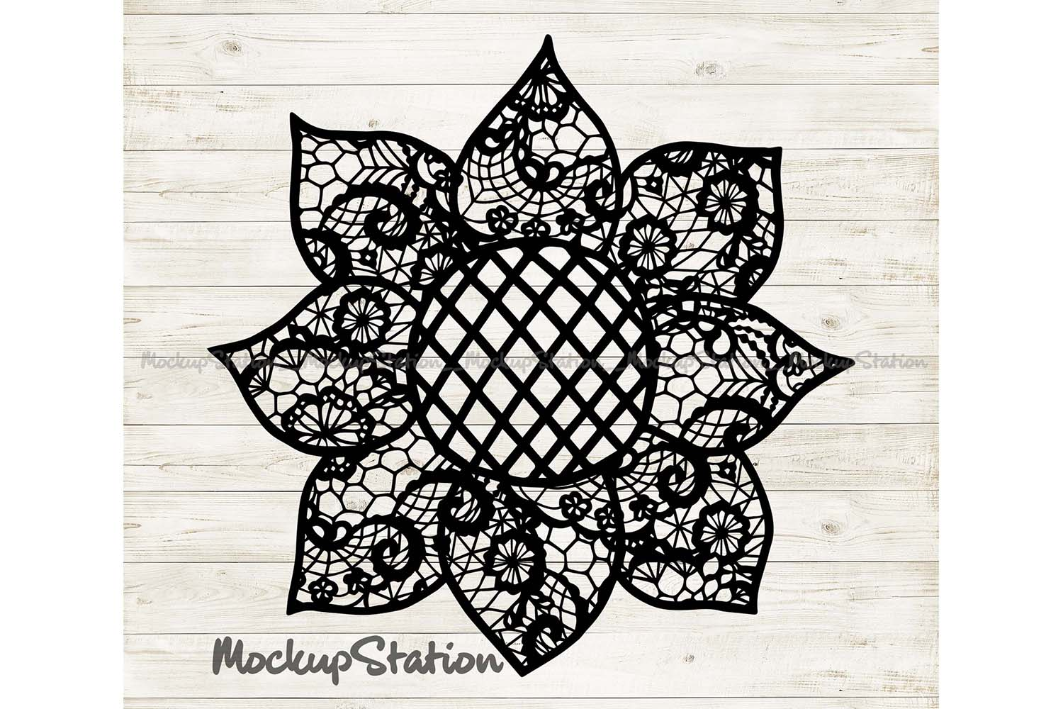 Download Free Sunflower Mandala Farm Decor Graphic By Mockup Station for Cricut Explore, Silhouette and other cutting machines.