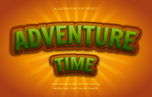 Text Effect - Adventure Time Graphic Add-ons By aalfndi