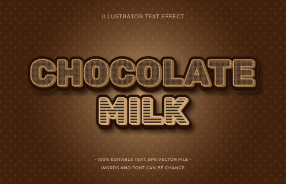 Download Free Text Effect Chocolate Graphic By Aalfndi Creative Fabrica for Cricut Explore, Silhouette and other cutting machines.