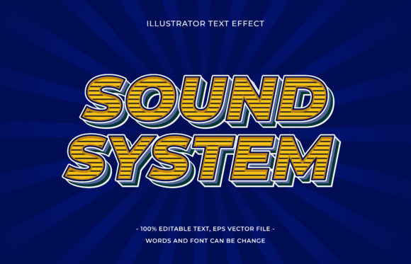 Text Effect - Sound System Graphic Add-ons By aalfndi