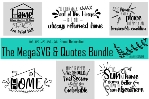 Print on Demand: The Mega SVG and Quotes Bundle  By Analogous