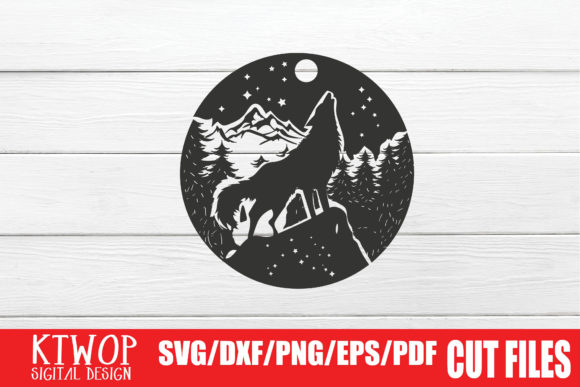Print on Demand: The Wolf on the Cliff in the Forest Graphic Crafts By KtwoP