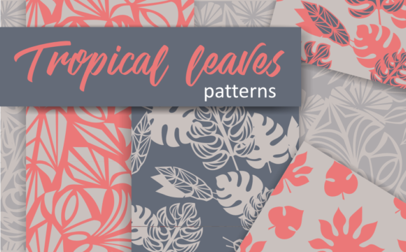 Print on Demand: Tropical Leaves Patterns Graphic Patterns By Em-Pal