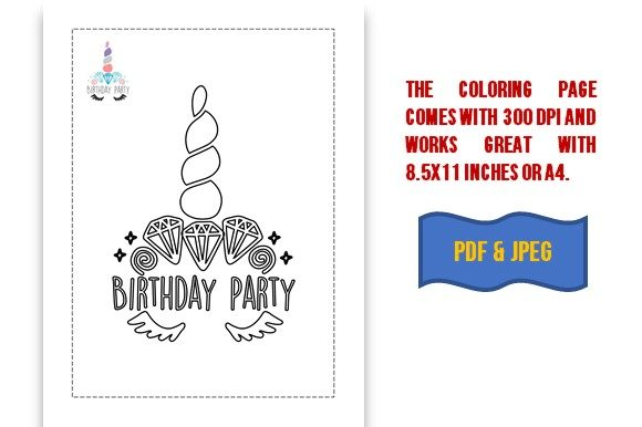 Download Free Unicorn Coloring Book Cut Files Graphic By Icutletterstudio for Cricut Explore, Silhouette and other cutting machines.