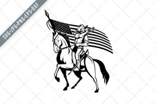 Print on Demand: United States Cavalry on Horse Graphic Illustrations By patrimonio
