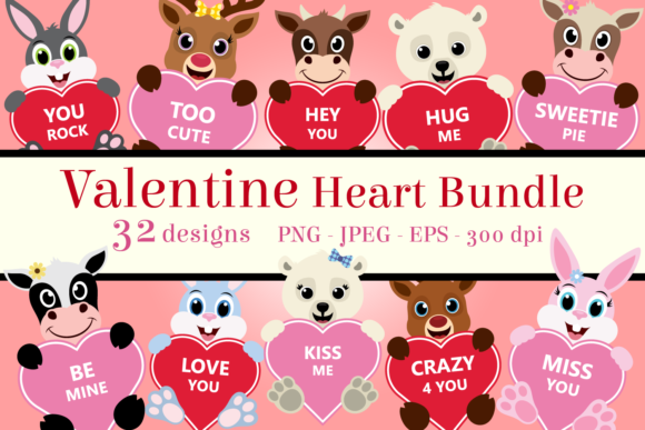 Download Free Valentine Heart Bundle Clipart Graphic By Captaincreative SVG Cut Files