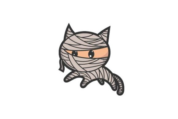 Print on Demand: Very Cute Mummy Cat Graphic Illustrations By firdausm601
