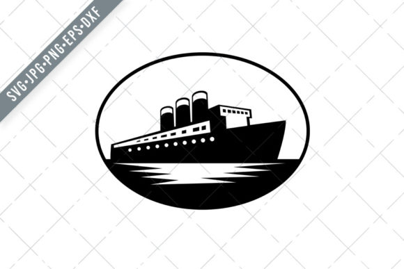 Download Free Vintage Passenger Boat Or Ocean Graphic By Patrimonio Creative for Cricut Explore, Silhouette and other cutting machines.