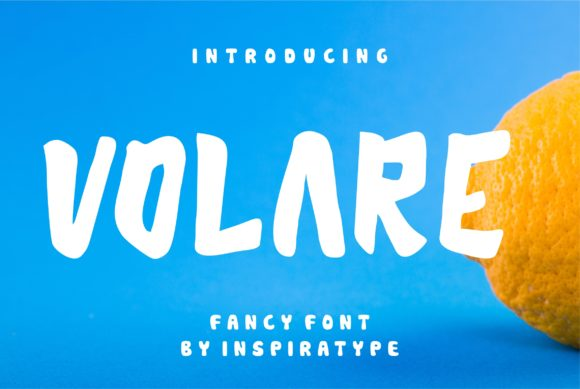 Print on Demand: Volare Display Font By InspiraType